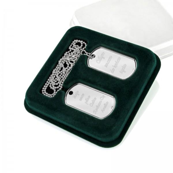 nieśmiertelnik srebrny z grawerem na prezent
