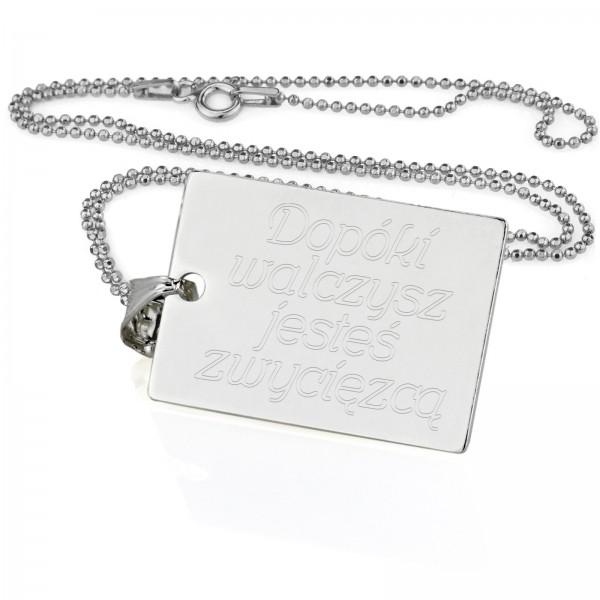 prezent dla chłopaka nieśmiertelnik srebrny z grawerem