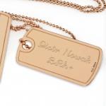 srebrne nieśmiertelniki z dedykacją na prezent dla dziewczyny